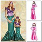 MCCALLS M5498  Misses'/Children's/Girls' Mermaid and Princess Costumes