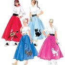 McCalls M5681 MISSES COSTUME-Retro 50s Poodle SkirtSIZE: 8, 10, 12, 14, 16