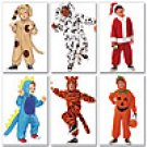 Butterick 6695 CHILDS COSTUME-DINO, DALMATION, DOG, TIGER, PUMPKIN, SANTA CLAUS SZ 1-2, 3-4, 5-6