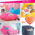 SIMPLICITY 5105 Teen Room -Ottoman, Bean Bag Chair, Floor Pillow, Heart Pillow + more