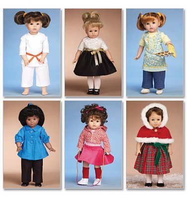 MCCALLS M6006 CRAFT PATTERN- 18 Inch DOLL CLOTHES