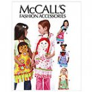 MCCALLS M6662 Children's/Girls'-Aprons, SZ 3, 4, 5, 6, 7, 8