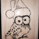 STAMPENDOUS CHRISTMAS OWL RUBBER STAMP