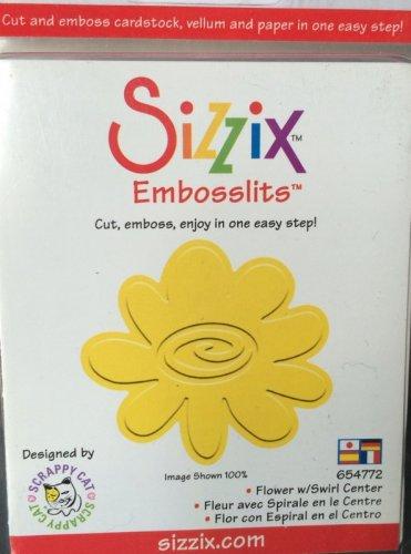 Sizzix - Sizzlits Flower w/swirl center - Individual Die 654772