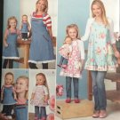 "SIMPLICITY 1240 MISSES' & CHILDS' & 18 "" DOLL APRONS"