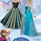 Simplicity 1215 Disney Frozen Anna & Elsa Misses' Costumes Size
