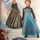 Simplicity 1222 Disney Frozen Anna & Elsa Child's Costumes Size