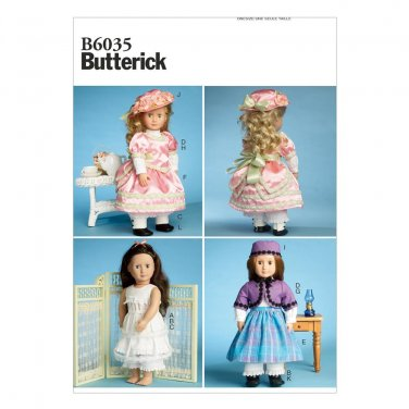 """BUTTERICK B6035 18"""" (46cm) Doll Clothes"""