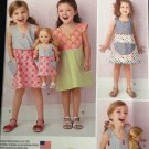 "Simplicity 1379 Child's Dress and Dress for 18"" Doll"