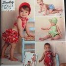 Simplicity 1600 Vintage Baby Romper, Panties and Bonnet