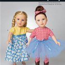 Simplicity 1192 Craft 18 inch  Doll Clothes-It's So Easy!