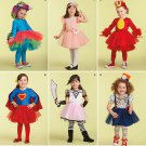 SIMPLICITY 1302 TODDLERS COSTUME WITH KNIT LEGGINGS- ANGRY BIRD, PIRATE, SUPER HERO