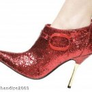 Ankle Boot Stilletto Metal Heel 4 Inches Red Size 9