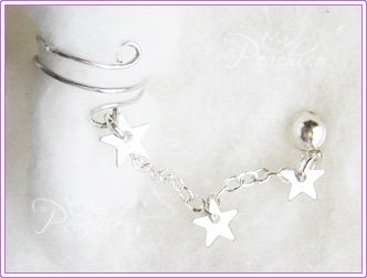 Triple Star Cuff Earring #209