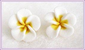 FPC Yellow/White Flowers Stud #313