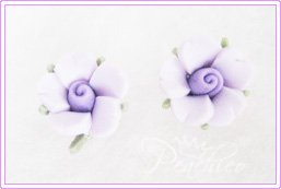 FPC Purple Flowers Stud #314