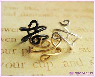 3 Plain Ear Cuff Silver/Gold/Black #251