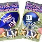 NY Giants Champions Mini Magnets Set of (2)