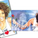 Whitney Houston Magnets Set of Two