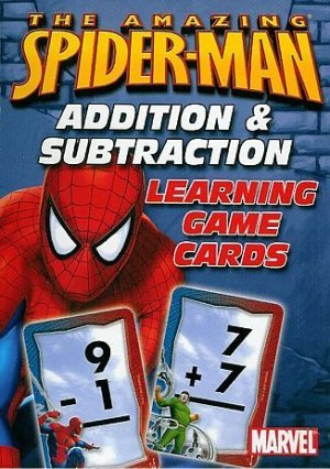 The Amazing Spiderman Learning Game / Flashcards by Marvel- Addition & Subtraction- Math Help
