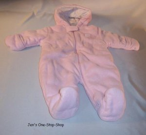 Child Of Mine, light pink snowsuit, size 3-6 months