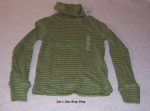 Girls green/gray long sleeve, Old Navy turtleneck, size XS (5) - NWT