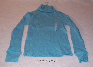 Girls blue/gray long sleeved,  Old Navy turtleneck, size XS (5) - NWT