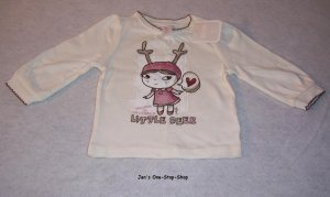 Girls 3-6 month Old Navy cream colored long sleeve shirt - NWT