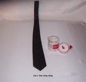 Black Old Navy tie w/reindeer - NEW