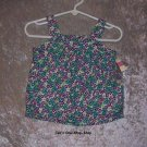 Girls 12 month Cherokee, flowered, tank top - NWT