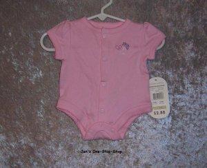 Girls Preemie Baby Connection, pink onsie - NWT
