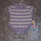 Girls Preemie Baby Connection purple striped onsie - NWT