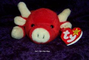 Snort the Bull beanie baby - NWMT