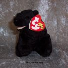 Cinders the Black Bear beanie baby - NWMT