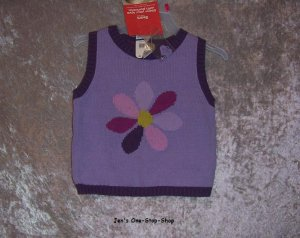 Girls 18 month, TKS, purple vest - NWT
