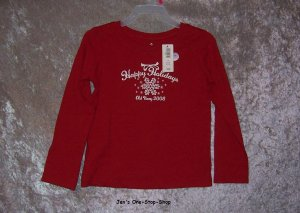 Girls 3T Old Navy, long sleeve, christmas shirt - NWT