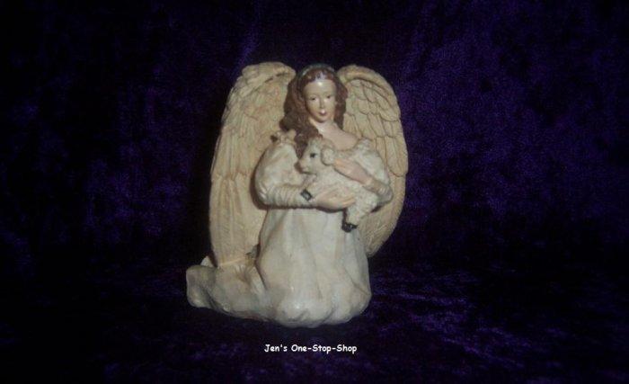 Angel holding Lamb candle holder