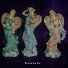 Set of 3, 6 3/4 inch tall, Angel figurines