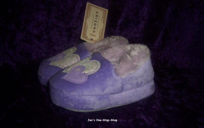 Arizona slippers, size small, purple - New With Tag!!
