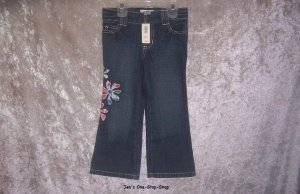 Girls 3T Old Navy jeans, with flowers - NWT!!!