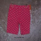 Girls 18 month Carter's pink capri pants - NWT!!!