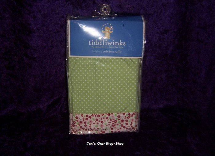 Tiddliwinks Ladybug Crib Dust Ruffle - New In Package!!