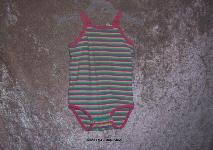Girls 18 month Circo tank top onsie - striped