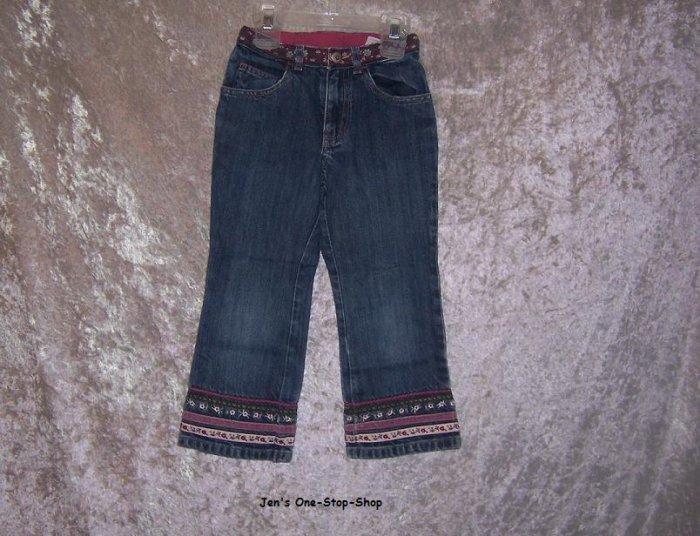 Girls Size 4 Gap jeans w/flowers