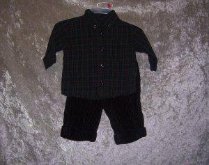Boys 3-6 month Gymboree shirt, pants, and shoes set