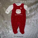 Girls 0-3 month Miniwear 3 piece Christmas outfit