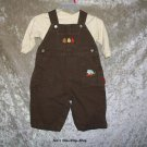 Boys 3-6 month Carter's long sleeve shirt and overalls