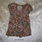 Girls Size 5/6 The Children's Place brown flowered shirt