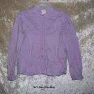 Girls size 5 light purple Gap button-up shirt