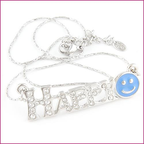 18KGP smile face necklace  $10
